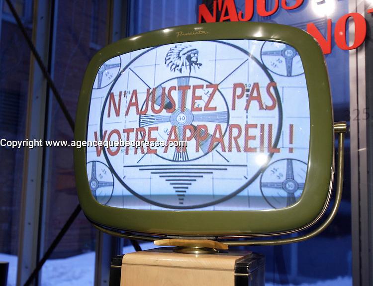 Montreal (Quebec) CANADA - Feb 19 2009 - <br /> Antic television<br /> Les Rendez Vous du Cinema Quebecois 2009