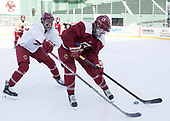Megan Keller (BC - 4), Erin Connolly (BC - 15) - The Boston College Eagles practiced at Fenway on Monday, January 9, 2017, in Boston, Massachusetts.Megan Keller (BC - 4), Erin Connolly (BC - 15) - The Boston College Eagles practiced at Fenway on Monday, January 9, 2017, in Boston, Massachusetts.