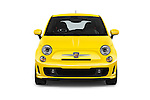 Car photography straight front view of a 2017 Fiat 500 Abarth 3 Door Hatchback Front View