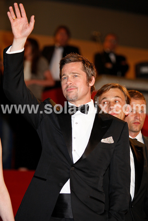 **ALL ROUND PICTURES FROM SOLARPIX.COM**.**SYNDICATION RIGHTS FOR UK AND SPAIN ONLY**.Arrivals at the premiere of Inglourious Basterds at the 62nd Cannes Film Festival in Cannes, France. .This pic:  Brad Pitt.JOB REF:      9067    CPR/Heinz        DATE:  21.05.09.**MUST CREDIT SOLARPIX.COM OR DOUBLE FEE WILL BE CHARGED**.**ONLINE USAGE FEE GBP 50.00 PER PICTURE - NOTIFICATION OF USAGE TO PHOTO @ SOLARPIX.COM**.**CALL SOLARPIX : +34 952 811 768 or LOW RATE FROM UK 0844 617 7637**