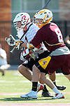 Orange, CA 05/02/10 - Andrew Nordstrom (Chapman # 2) and Bryan Siegel (ASU # 8) in action during the Chapman-Arizona State MCLA SLC Division I final at Wilson Field on Chapman University's campus.  Arizona State defeated Chapman 13-12 in overtime.