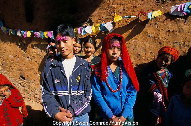 A newly bride couple in Rolpa District