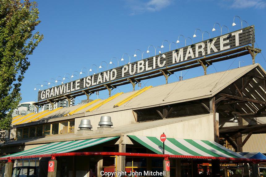 Granville Island Public Market building, Vancouver, British Columbia, Canada