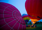 "Photo by Phil Grout..The Prekness Balloon Festival draws many fans from the region.who come to Turf Valley for the evening ""balloon glow""."