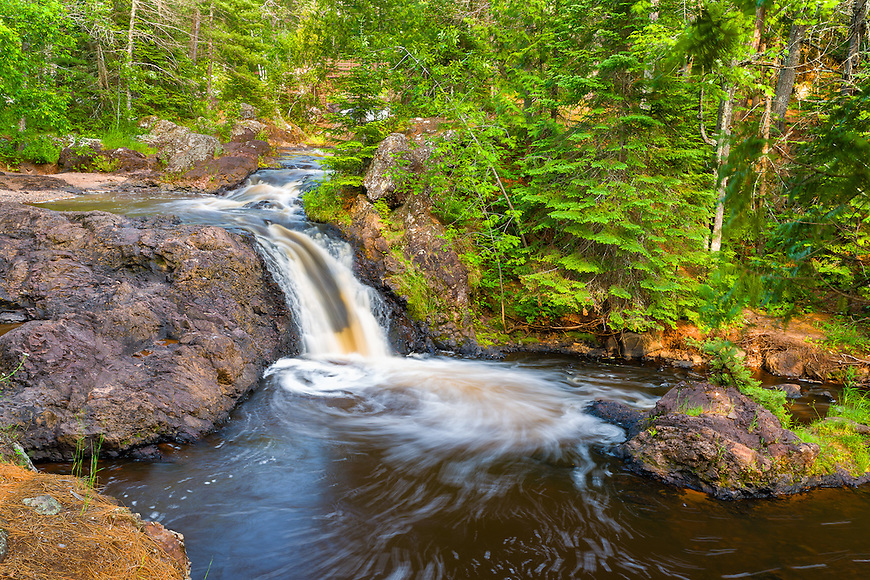 Amnicon Falls State Park has some of the most beautiful and accessible waterfalls in Wisconsin.
