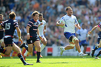 Jack Lam of Samoa in full flight during Match 6 of the Rugby World Cup 2015 between Samoa and USA - 20/09/2015 - Brighton Community Stadium, Brighton <br /> Mandatory Credit: Rob Munro/Stewart Communications