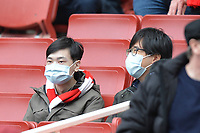 coronavirus masks during Arsenal vs West Ham United, Premier League Football at the Emirates Stadium on 7th March 2020