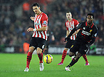 Jose Fonte of Southampton is chased by Daniel Sturridge of Liverpool - Barclays Premier League - Southampton vs Liverpool - St Mary's Stadium - Southampton - England - 22nd February 2015 - Pic Robin Parker/Sportimage