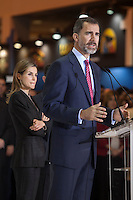 Spanish Royals King Felipe VI of Spain and Queen Letizia of Spain attend tourism fair FITUR in Madrid, Spain. Month XX, 2015. (ALTERPHOTOS/Victor Blanco) /nortephoto.com<br /> nortephoto.com