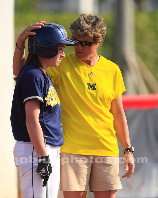 University of Michigan softball 5-1 victory over Massachusetts in the championship game of the FUA Kickoff Classic in Boca Raton, FL, on February 20, 2011.
