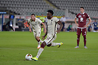 29th July 2020; Olympic Grande Torino Stadium, Turin, Piedmont, Italy; Serie A Football, Torino versus Roma; Amadou Diawara of AS Roma scores the goal for 2-3 for Roma from a penalty kick in 60th minute