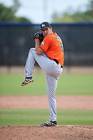 Miami Marlins pitcher Ryan McKay (6) during a Minor League Spring Training game against the Washington Nationals on March 28, 2018 at FITTEAM Ballpark of the Palm Beaches in West Palm Beach, Florida.  (Mike Janes/Four Seam Images)