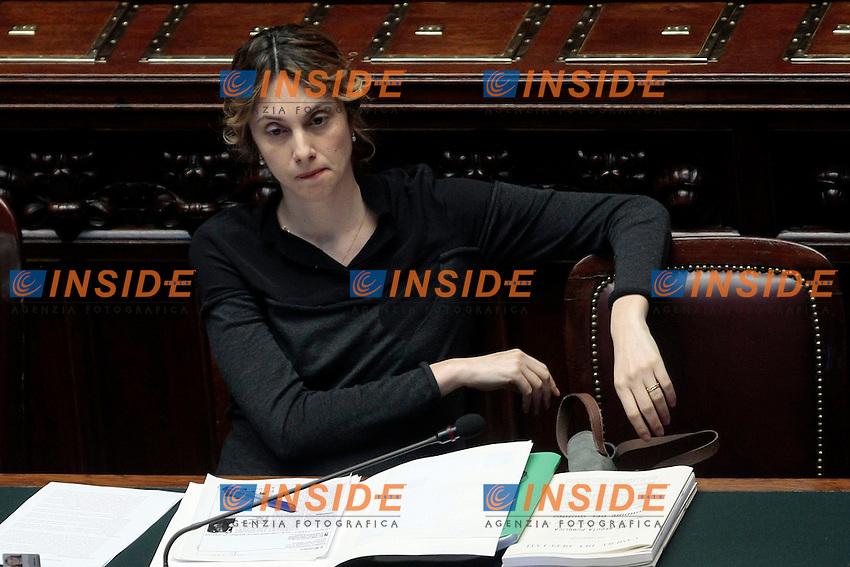 Marianna Madia<br /> Roma 11-03-2014 Camera. Voto degli emendamenti sulla Legge elettorale.<br /> Lower Chamber Vote for the new electoral law<br /> Camera. Photo Samantha Zucchi Insidefoto