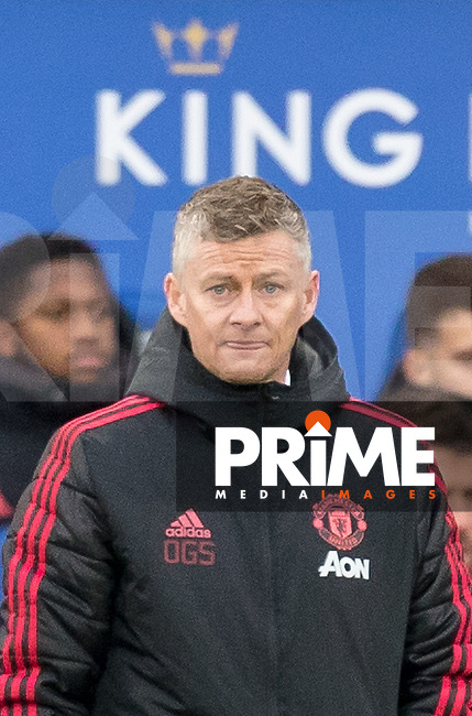 Ole Gunnar (Solskjaer) Solskjær Manager of Man Utd during the Premier League match between Leicester City and Manchester United at the King Power Stadium, Leicester, England on 3 February 2019. Photo by Andy Rowland.