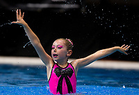 Lili Boyer-Shadbol (Wellington). Day One of the 2018 North Island Synchronised Swimming Championships at Wellington Regional Aquatics Centre in Wellington, New Zealand on Saturday, 19 May 2018. Photo: Dave Lintott / lintottphoto.co.nz