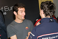 Mark Webber with Kubica - Private meeting for show the caracteristics of the Valencia Street Circuit to Drivers and Teams - Ceste - Valencia - Comunidad Valenciana - Spain - Europe / 23/1/2008