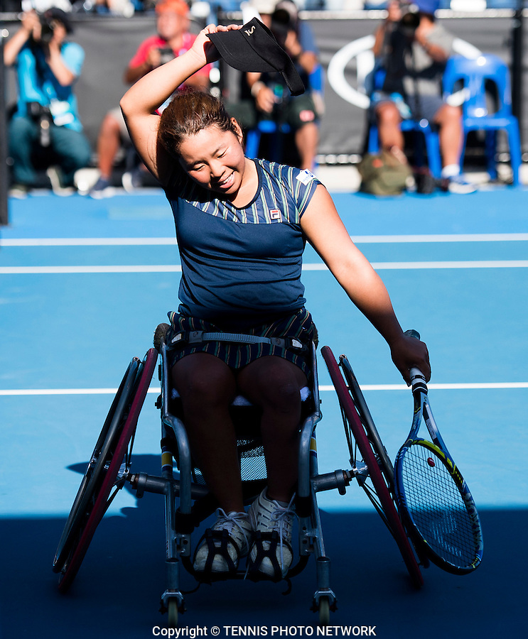 YUI KAMIJI (JPN)<br /> <br /> TENNIS , AUSTRALIAN OPEN,  MELBOURNE PARK, MELBOURNE, VICTORIA, AUSTRALIA, GRAND SLAM, HARD COURT, OUTDOOR, ITF, ATP, WTA<br /> <br /> &copy; TENNIS PHOTO NETWORK