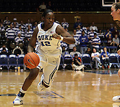 Chelsea Gray makes a run towards the basket. Duke woman's basketball beat Virginia 77-66 on Monday, January 2, 2012 at Cameron Indoor Stadium in Durham, NC. Photo by Al Drago.