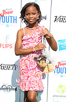 UNIVERSAL CITY, CA - JULY 27: Quvenzhane Wallis attends Variety's Power of Youth presented by Hasbro and GenerationOn at Universal Studios Backlot on July 27, 2013 in Universal City, California. (Photo by Celebrity Monitor)