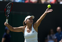 Evgeniya Rodina (RUS) during her victory over Madison Keys (USA) in their Ladies' Singles Third Round match<br /> <br /> Photographer Rob Newell/CameraSport<br /> <br /> Wimbledon Lawn Tennis Championships - Day 5 - Friday 6th July 2018 -  All England Lawn Tennis and Croquet Club - Wimbledon - London - England<br /> <br /> World Copyright &not;&uml;&not;&copy; 2017 CameraSport. All rights reserved. 43 Linden Ave. Countesthorpe. Leicester. England. LE8 5PG - Tel: +44 (0) 116 277 4147 - admin@camerasport.com - www.camerasport.com