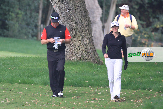 Miguel Angel Jimenez (ESP) during the pro-am at the  Andalucía Masters at Club de Golf Valderrama, Sotogrande, Spain. .Picture Fran Caffrey www.golffile.ie
