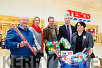 Launching the Christmas Food Appeal in association with the Lions Club and Tesco Ireland. The food appeal is being launched nationwide and will run on the 27/28 of November. The recipients of the Tralee collections will go to the needy of Tralee. Pictured l-r  Christy Lynch, SVDP, Breda Walsh, Mark Walsh, Tralee Lions Club, Fergus Courtney, President of Tralee Lions Club and Ann O'Sullivan, Tescos.