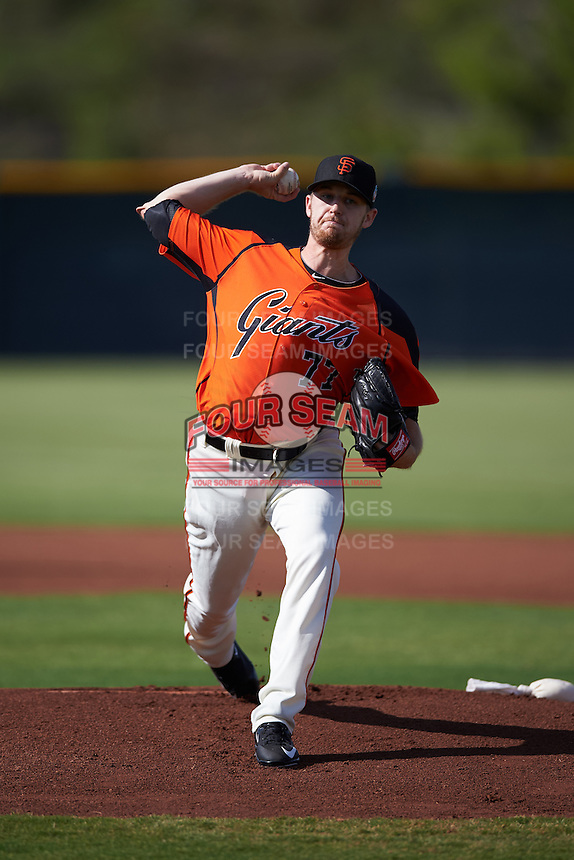 San Francisco Giants pitcher Chris Stratton (77) during an Instructional League game against the Colorado Rockies on October 8, 2016 at the Giants Baseball Complex in Scottsdale, Arizona.  (Mike Janes/Four Seam Images)