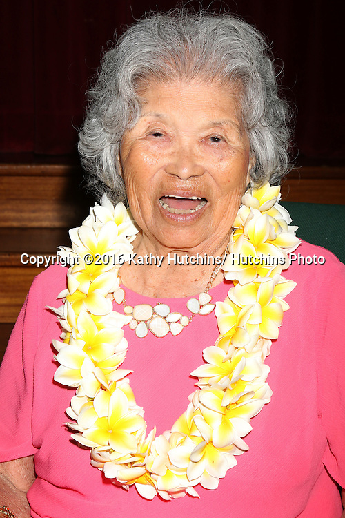 LOS ANGELES - AUG 6:  Lily Taka at the Lily Taka 100th Birthday Party at the First Christian Church on August 6, 2016 in Riverside, CA