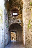 Gate in Kotor town walls, Montenegro