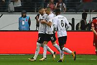 celebrate the goal, Torjubel zum 1:0 von Ante Rebic (Eintracht Frankfurt) - 30.09.2017: Eintracht Frankfurt vs. VfB Stuttgart, Commerzbank Arena