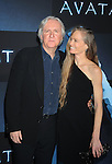 """HOLLYWOOD, CA. - December 16: James Cameron and wife Suzy Amis  attend the Los Angeles premiere of """"Avatar"""" at Grauman's Chinese Theatre on December 16, 2009 in Hollywood, California."""