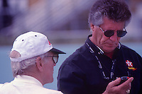 Paul Newman and Mario Andretti, Marlboro Grand Prix of Miami, Homestead-Miami Speedway, Homestead, FL, March 15, 1998.  (Photo by Brian Cleary/www.bcpix.com)