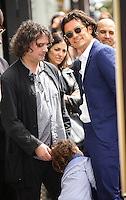 HOLLYWOOD, LOS ANGELES, CA, USA - APRIL 02: David Leveaux, Flynn Christopher Bloom, Orlando Bloom at Orlando Bloom's star ceremony on the Hollywood Walk of Fame (2,521st star) in the category of Motion Pictures held at 6927 Hollywood Boulevard (next to TCL Chinese Theatre and Madame Tussauds Hollywood) on April 2, 2014 in Hollywood, Los Angeles, California, United States. (Photo by Celebrity Monitor)