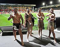 Aotearoa Fisheries Limited The Maori All Blacks European Tour. Maori welcome at Leicester Tigers and the Maori All Blacks at Welford Road, Leicester, England. 13 November. 2012.
