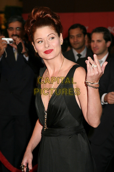 DEBRA MESSING.Sony Global Marketing Partners? Conference Closing Celebration on Rodeo Drive, Beverly Hills, California, USA, 29 September 2006..half length black dress hand rings jewellery bracelet.Ref: ADM/BP.www.capitalpictures.com.sales@capitalpictures.com.©Byron Purvis/AdMedia/Capital Pictures.