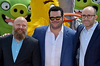 """CANNES, FRANCE. May 13, 2019: Thurop Van Orman, Josh Gad & John Cohen at the photocall for """"The Angry Birds Movie 2"""" at the Festival de Cannes.<br /> Picture: Paul Smith / Featureflash"""