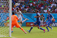 Bryan Ruiz of Costa Rica scores a goal to make the score 1-0