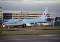 A TUI fly Nordic Boeing 737-8K5 Registration SE-RFX at Manchester Airport on 11.2.19 going to Agadir Al Massira Airport, Morocco.