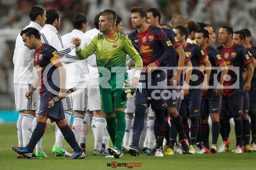 Real Madrid vs Barcelona Super Copa of Spain on Agost 29th 2012...Photo:  (ALTERPHOTOS/Ricky) Super Cup match. August 29, 2012. <br />  (foto:ALTERPHOTOS/NortePhoto.com<br /> <br /> **CREDITO*OBLIGATORIO** <br /> *No*Venta*A*Terceros*<br /> *No*Sale*So*third*<br /> *** No*Se*Permite*Hacer*Archivo**<br /> *No*Sale*So*third*