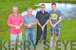 CLUBS: Ready to play in the Capts of Castleisland Golf Club Charity Golf on Sunday l-r: Tom Nix, Ben Foley, Liam Martin and Darren Enright (Castleisland Golg members) the charity were, Kerry Hospice and Kerry Cancer Support Group).