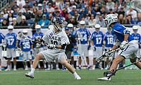 Foxborough, Massachusetts - May 28, 2018: NCAA Division I tournament final. Yale University (white) defeated Duke University (blue/white), 13-11, at Gillette Stadium.