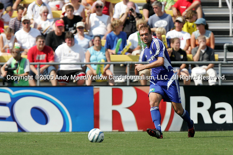 30 July 2005: Jimmy Conrad. Major League Soccer's All-Stars defeated Fulham FC of the English Premier League 4-1 at Columbus Crew Stadium in Columbus, Ohio in the 2005 Sierra Mist MLS All-Star Game.