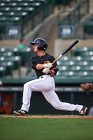 GCL Orioles third baseman Frank Crinella (9) at bat during the first game of a doubleheader against the GCL Rays on August 1, 2015 at the Ed Smith Stadium in Sarasota, Florida.  GCL Orioles defeated the GCL Rays 2-0.  (Mike Janes/Four Seam Images)