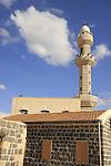 Israel, Lower Galilee. Circassian Mosque at Kfar Kama