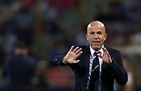 Football: Uefa under 21 Championship 2019, Italy -Poland, Renato Dall'Ara stadium Bologna Italy on June19, 2019.<br /> Italy's under 21 national team coach Luigi Di Biagio  speaks to his players during the Uefa under 21 Championship 2019 football match between Italy and Poland at Renato Dall'Ara stadium in Bologna, Italy on June19, 2019.<br /> UPDATE IMAGES PRESS/Isabella Bonotto