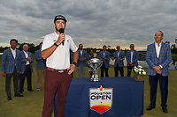 Lanto Griffin (USA) thanks the crowd and volunteers after winning the 2019 Houston Open, Golf Club of Houston, Houston, Texas, USA. 10/13/2019.<br /> Picture Ken Murray / Golffile.ie<br /> <br /> All photo usage must carry mandatory copyright credit (© Golffile | Ken Murray)