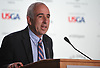 Jay Schneiderman, Southampton Town Supervisor, speaks during a news conference on Sunday, June 10, 2018 at Shinnecock Hills Golf Club, which is hosting the 118th US Open Championship.