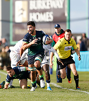 17th November 2019; The Sportsground, Galway, Connacht, Ireland; European Rugby Champions Cup, Connacht versus Montpellier; Colby Fainga'a goes on an attacking run for Connacht - Editorial Use