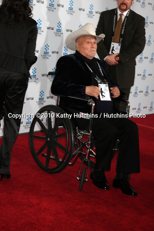 """.Tony Curtis.arrives at the """"A Star is Born"""" Restored Print World Premiere , part of the Turner Classic Movie Channel Classic Movie Festival.Grauman'S Chinese.Los Angeles, CA.April 22, 2010.©2010 Kathy Hutchins / Hutchins Photo..."""