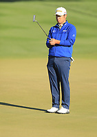 2nd February 2020, TPC Scottsdale, Arizona, USA;  Hideki Matsuyama studies the line for his putt on the second hole during the final round of the Waste Management Phoenix Open